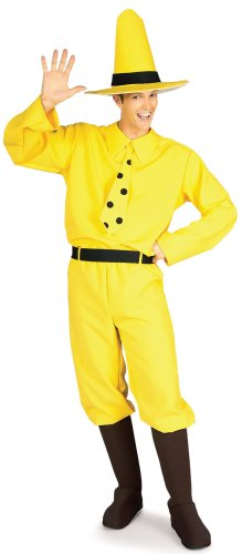 Adult's Man in the Yellow Hat Halloween Costume