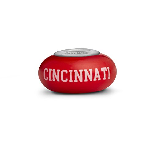 Cincinnati Bearcats Small Glass Bead Fits Most European Style Bracelets