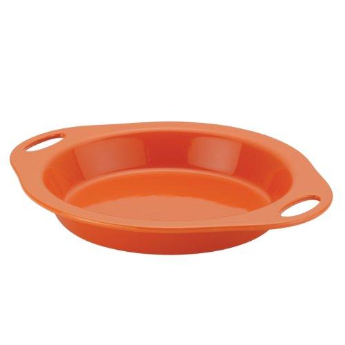 Rachael Ray Stoneware Pie Baker, 9-Inch, Orange