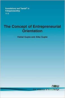 The Concept Of Entrepreneurial Orientation (Foundations And Trends In Entrepreneurship)