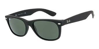 Ray-Ban Unisex Sonnenbrille New Wayfarer, Einfarbig, Gr. Small (Herstellergröße: 52), Schwarz