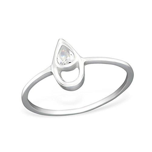 so chic bijoux bague anneau oxyde de zirconium goutte argent 925 bijouterie dulcinea. Black Bedroom Furniture Sets. Home Design Ideas