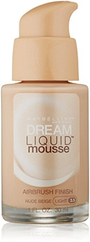 Maybelline Dream Liquid Mousse Airbrush Foundation, Nude Beige, Light [3.5], 1 oz (Pack of 4)