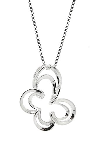 Sterling Silver Open Butterfly Pendant Chain Womens Jewelry Necklace (24 Inch) (Positivity Necklace compare prices)