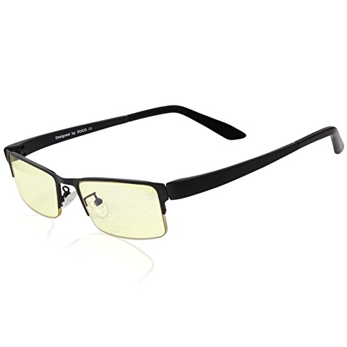 Buy Bargain DUCO Optiks GX090 Matte Black Computer Glasses Video Gaming Glasses Eyewear Amber Lens T...