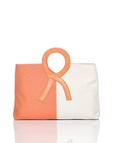 Roberta Di Camerino Shopping [Arancione/Bianco]
