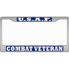 U.S. Air Force Combat Veteran License Plate Frame - Veteran Owned Business (Usaf Retired License Plate Frame compare prices)