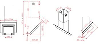 hot hot hot verkauf extra leise dunstabzugshaube wandmontage kopffrei edelstahl wei satinglas. Black Bedroom Furniture Sets. Home Design Ideas