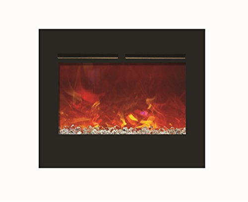 Amantii Zero Clearance Series Built-In Flush Mount Electric Fireplace, 30-Inch