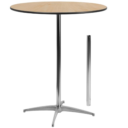 36'' Round Wood Cocktail Table with 30'' and 42'' Columns (36 High Table compare prices)