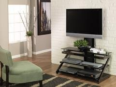 Cheap Portland Flat Panel TV Stand with Integrated Mount (ZL23-44MU)