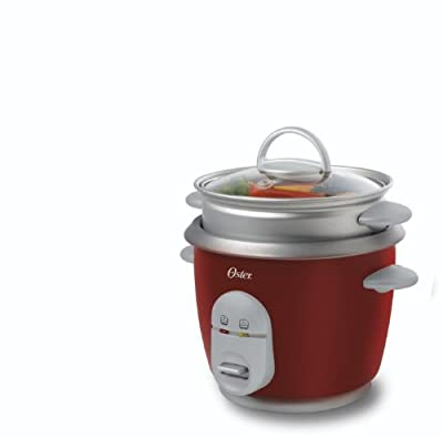 Oster Rice Cooker with Steam Tray, Red by Jarden Consumer Solutions