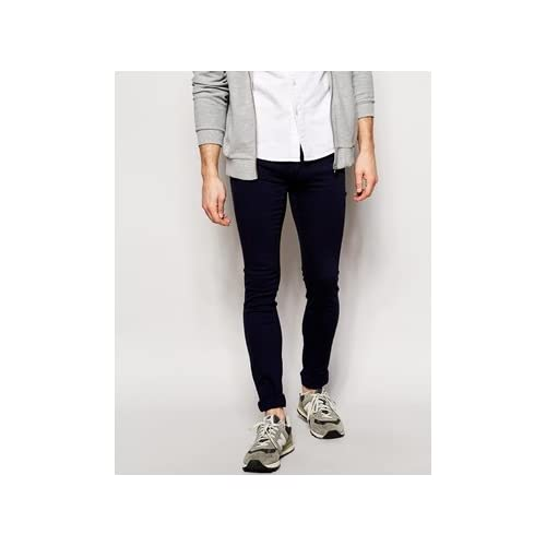 Dr Denim Jeans Kissy Low Spray On Super Skinny Navy 並行輸入品