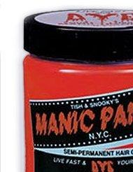 MANIC PANIC Semi-Permanent Hair Color Cream Pillarbox Red (No: HCR 11020) echo hcr 161es