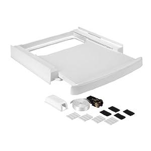 wpro sks 100 kit de superposition universel avec tablette pour lave linge seche linge 60 x 60 cm. Black Bedroom Furniture Sets. Home Design Ideas