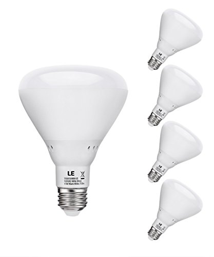 Le 11W Dimmable Br30 E26 Led Bulb, 60W Incandescent Bulbs Equivalent, 770Lm, Warm White, 2700K, 110° Flood Beam, Recessed Light Bulbs, Pack Of 4 Units