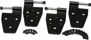 Kentrol 50525 Black Power Coat Stainless Steel Door Hinge Set