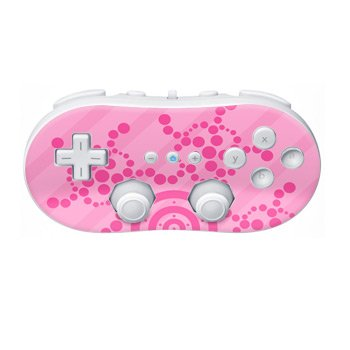 Nintendo Wii Controller Skin- Crop Circles Pink