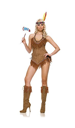 Leg Avenue Womes Indian Girl Costume Brown (Sm/Med)