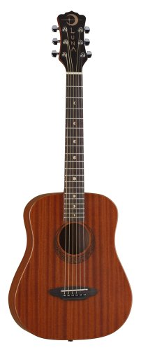 Luna Muse Safari 3/4 Travel Guitar w/ Gig Bag - Mahogany