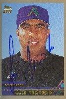 Luis Terrero Missoula Osprey - Diamondbacks Affiliate 2000 Topps Autographed Hand... by Hall of Fame Memorabilia