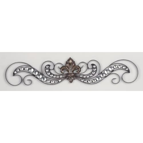 "Amazon.com - 24"" FLEUR DE LIS METAL SCROLL WALL ART BLING ~ LARGE"