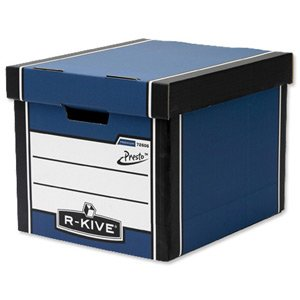 Fellowes R-Kive Premium 726 Archive Storage Box W330xD381xH298mm Blue and White Ref 7260602 [Pack of 10]