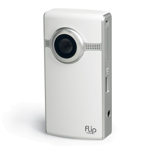Flip Video Ultra Series 120 Minutes Camcorder, White