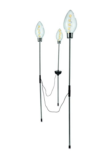 Solar-Glühleuchten, 3er-Set | Edelstahl | Glühlampen | Solarlampen | Gartenleuchten | Kabellos