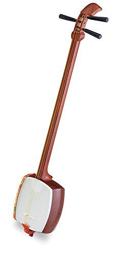 SUZUKI スズキ 中棹三味線セット ききょう 木製・三ツ折 MS-10M