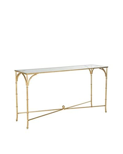 Safavieh Maurice Console, Gold/Glass