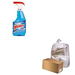KITDRA90135EAJAGD3865 - Value Kit - Jaguar Plastics D3865 Clear Industrial 2.5 Mil Drum Can Liners, 38quot; x 65quot; (JAGD3865) and Windex Powerized Glass Cleaner with Ammonia-D (DRA90135EA)