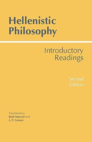 Hellenistic Philosophy (Hackett Classics)