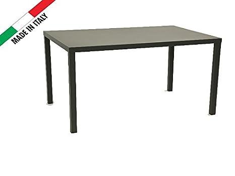 Table 160x 80anthracite pour extérieur jardin terrasse balcon bar restaurant en métal