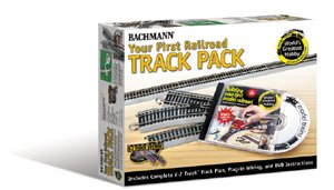 Bachmann Trains Snap-Fit E-Z Track Nickel Silver World's Greatest Hobby First Railroad Track Pack