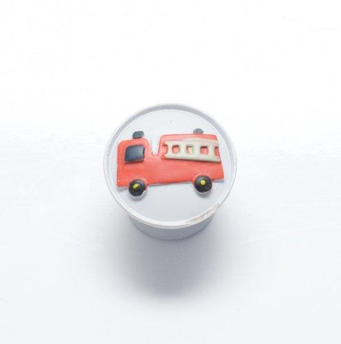 """Hochwertiger Design Moebelknopf Schrankknopf """"Feuerwehr"""" DM = 35mm"""
