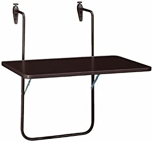 boy table suspendue pour balcon 60 x 40 cm marron amazon. Black Bedroom Furniture Sets. Home Design Ideas