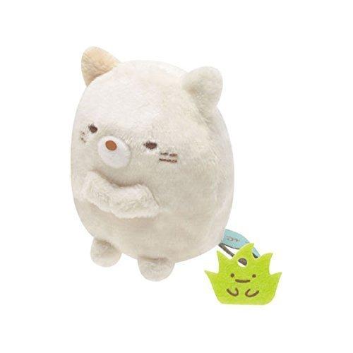 San-x Sumikko Gurashi Plush 2'' Cat w/ Mini Weed - 1