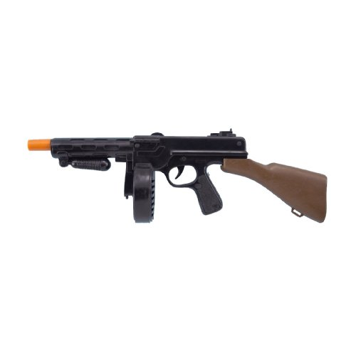 Forum Novelties Men's Gangster Machine Gun Costume Accessory, Black/Orange, One Size