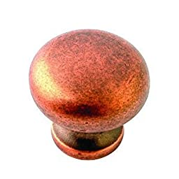 1-1/4 in. Tumbled Copper Round Knob (50-Pack)