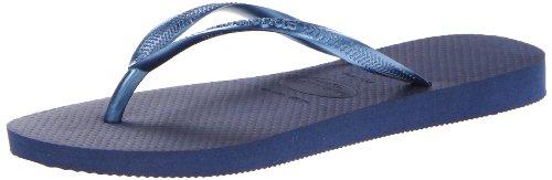 Havaianas Women's Slim Flip Flop,Navy Blue,35/36 BR/5-6 M US