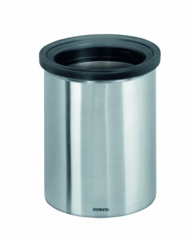 Brabantia Waste Bin for Tea Bags and Coffee Pods, Matt Steel