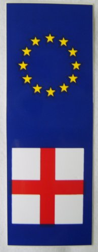 England St Georges Cross Car Sticker 1.5