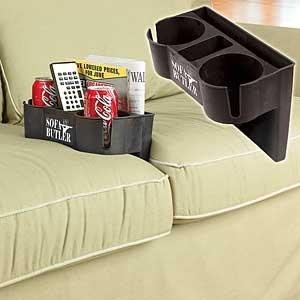 Armchair Remote Control Holder Nice Sofa Cushion Drink
