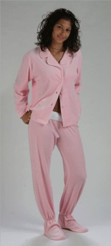 de7e0300735a 4 Cheap Footzies Pink Two-Piece Footed Pajamas for Women XL-Short ...