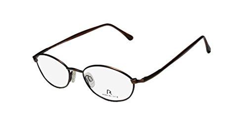 Rodenstock R4207 Mens/Womens Ophthalmic Sleek Oval Full-rim Flexible Hinges Eyeglasses/Eyewear (48-17-140, Matte Brown / Havana) (Mirror Edge Cosplay compare prices)