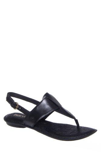 Born Trini Flat Ankle Strap Thong Sandal