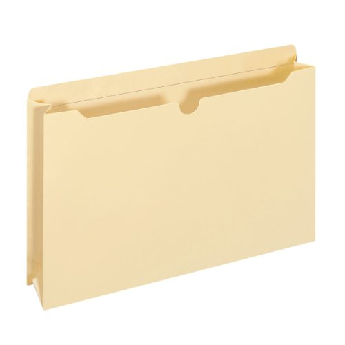 Globe-Weis File Jackets, 11 Point, Double Top Tab, 2-Inch Expansion, Legal Size, Manila, 50 Jackets per Pack (24950GW)