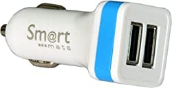 Smartmate SMC-002 Car Charger (Blue)