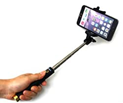 D-best Self-portrait Monopod Extendable Selfie Stick with Built-in Bluetooth Remote Shutter for Iphone and Samsung Smartphone (Gold)